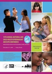 15th Annual MCH EPI Program Book - HRSA
