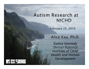 Autism Research at NICHD - HRSA