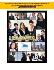 CLI Inclusiveness Manual - ACC - Association of Corporate Counsel