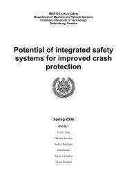 Potential of integrated safety systems for improved crash protection