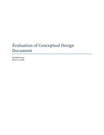 Evaluation of Conceptual Design Document (C2)