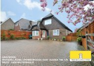 graywood, whitehill road, crowborough, east sussex tn6 1jh price