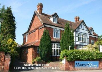 Collina House Hotel, 5 East Hill, Tenterden, Kent TN30 6RL