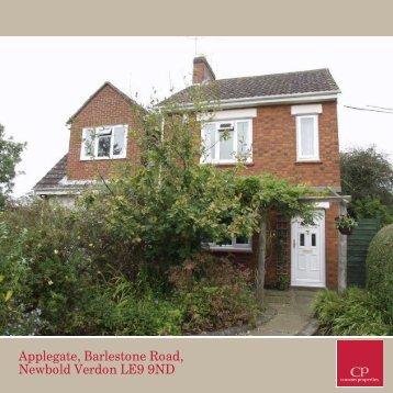 Applegate, Barlestone Road, Newbold Verdon LE9 9ND - Vebra