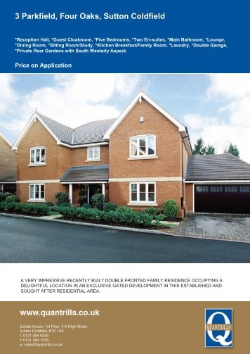 3 Parkfield, Four Oaks, Sutton Coldfield - The Guild of Professional ...