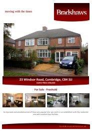 23 Windsor Road, Cambridge, CB4 3JJ - The Guild of Professional ...