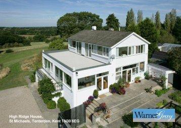 High Ridge House, St Michaels, Tenterden, Kent TN30 6EG