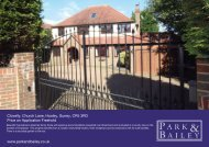 www.parkandbailey.co.uk Clovelly, Church Lane, Hooley, Surrey ...