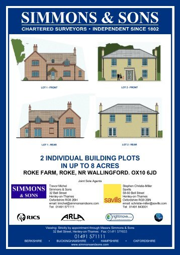 2 INDIVIDUAL BUILDING PLOTS IN UP TO 8 ACRES