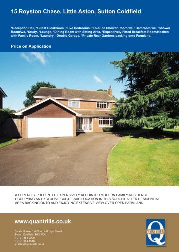 15 Royston Chase, Little Aston, Sutton Coldfield - The Guild of ...