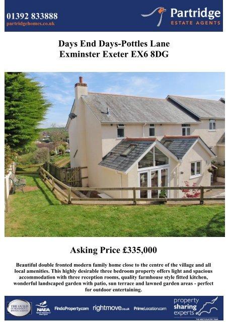 Days End Days-Pottles Lane Exminster Exeter EX6 8DG Asking ...