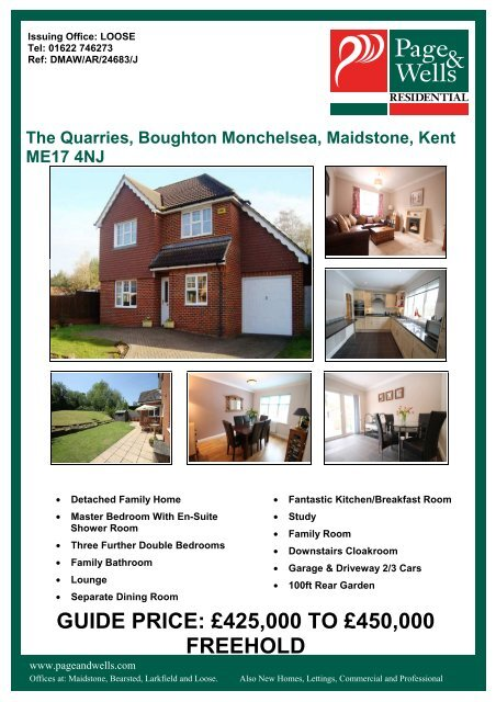 The Quarries, Boughton Monchelsea, Maidstone, Kent ME17 4NJ