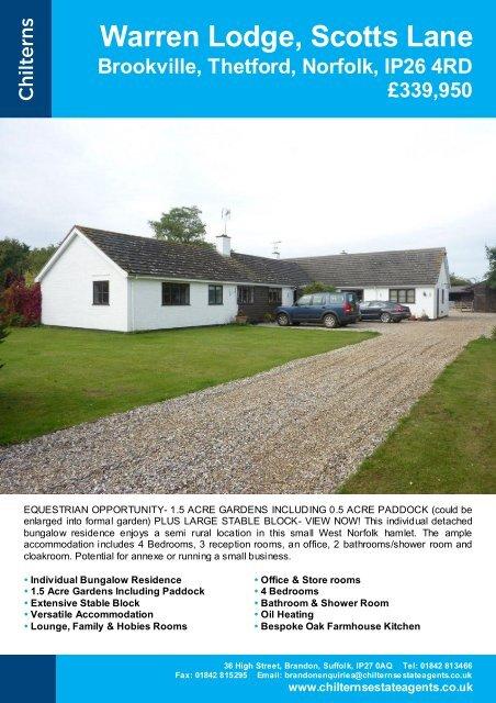 Warren Lodge, Scotts Lane - The Guild of Professional Estate Agents