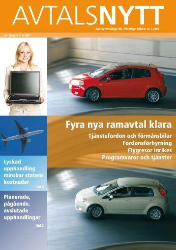Fyra nya ramavtal klara - Textalk Webnews