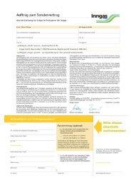 Auftrag Sondervertrag ab 01.08.2009