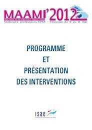 Présentation des activités - Websites de l'ISAE
