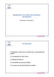 Modélisation et Contrôle des véhicules aérospatiaux - Websites de l ...