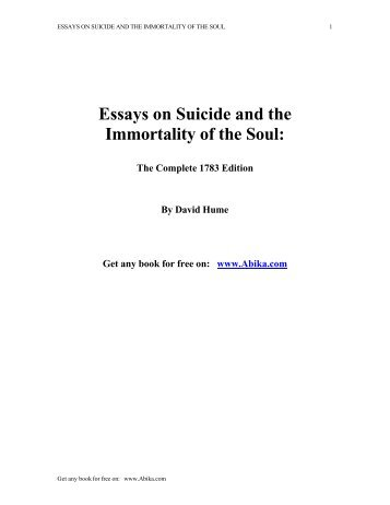 Immortality of the soul essay