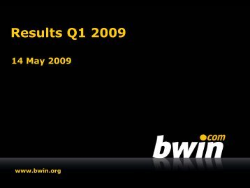 Results Q1 2009