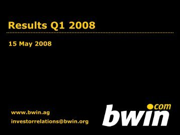 Results Q1 2008