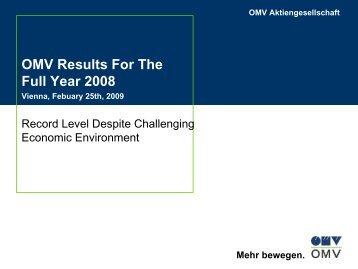 OMV Jahresbilanz 2004