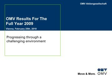 OMV Results For The Full Year 2009