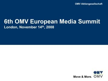 6th OMV European Media Summit