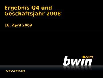 Ergebnis Q4 und Geschäftsjahr 2008 - Video