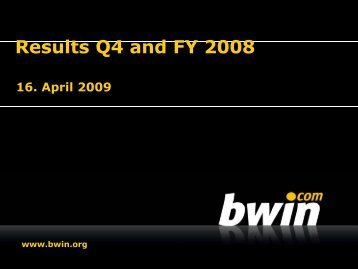 Results Q4 and FY 2008 - Video