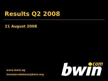 Results Q2 2008