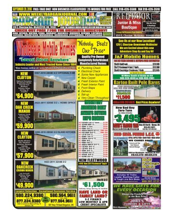 Wholesale Mobile Homes - The Weekly Bargain Journal