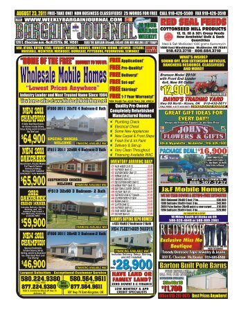 Call For Estimate - The Weekly Bargain Journal
