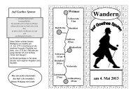 Wandern am 4. Mai 2013 - im Kreis Weimarer Land