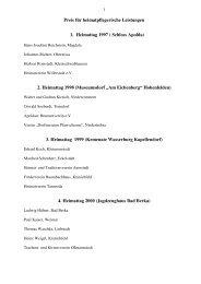 Preis für heimatpflegerische Leistungen - im Kreis Weimarer Land