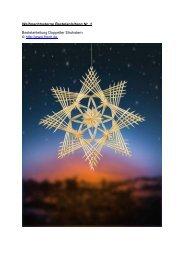 1. Bastelanleitung Sterne: Doppelter Strohstern zu Weihnachten