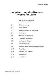 Hauptsatzung des Kreises Weimarer Land - im Kreis Weimarer Land