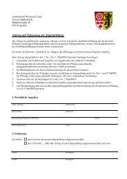 Antrag auf Zulassung zur Jägerprüfung - im Kreis Weimarer Land