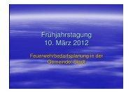 Feuerwehrbedarfsplanung - im Kreis Weimarer Land