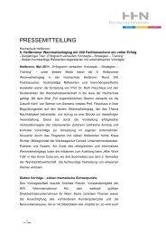 PRESSEMITTEILUNG - Weinmarketingtag-Heilbronn