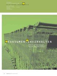 konsumentenverhalten - Prof. Dr. Paul JJ Welfens - Bergische ...