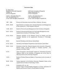Curriculum Vitae Dr. Martin Keim Bergische Universität Wuppertal ...