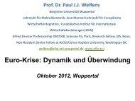 Euro-Krise - Prof. Dr. Paul JJ Welfens - Bergische Universität ...