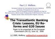 The Transatlantic Banking Crisis - Prof. Dr. Paul JJ Welfens