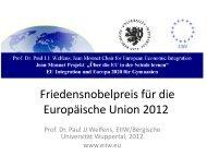 Friedensnobelpreis für die Europäische Union 2012
