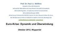 Folien zur Eurokrise - Prof. Dr. Paul JJ Welfens - Bergische ...