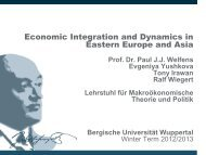 Economic Integration and Dynamics in Eastern Europe and Asia