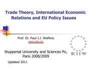 New Slides - Prof. Dr. Paul JJ Welfens