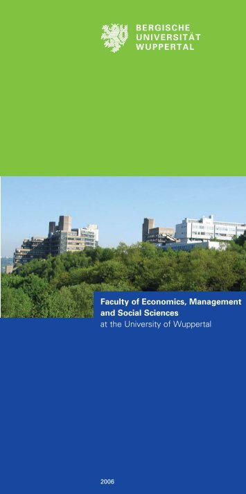 General Brochure of the Faculty of Economics - Prof. Dr. Paul JJ ...