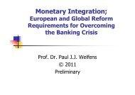 Monetary Integration; - Prof. Dr. Paul JJ Welfens