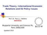 Trade - Prof. Dr. Paul JJ Welfens